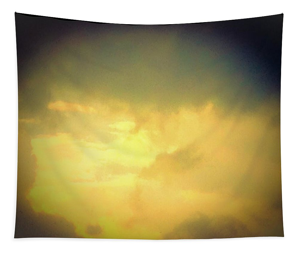 Sunshine Tapestry featuring the photograph Dark Clouds Above The Sunny Clouds by Debra Lynch