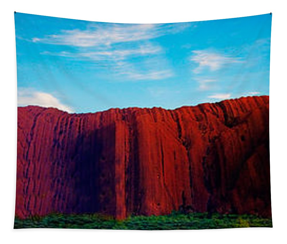 Uluru Tapestry featuring the photograph Darwin 4 by Ben Yassa