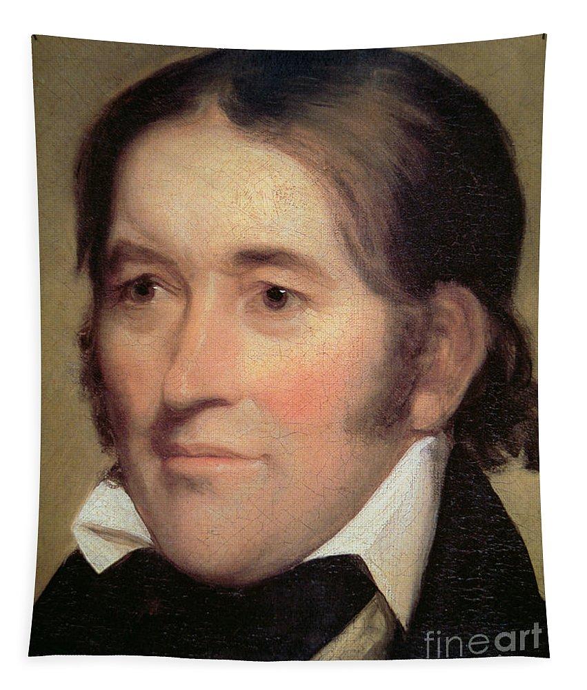 Davy Crockett Tapestry featuring the painting Davy Crockett by John Neagle