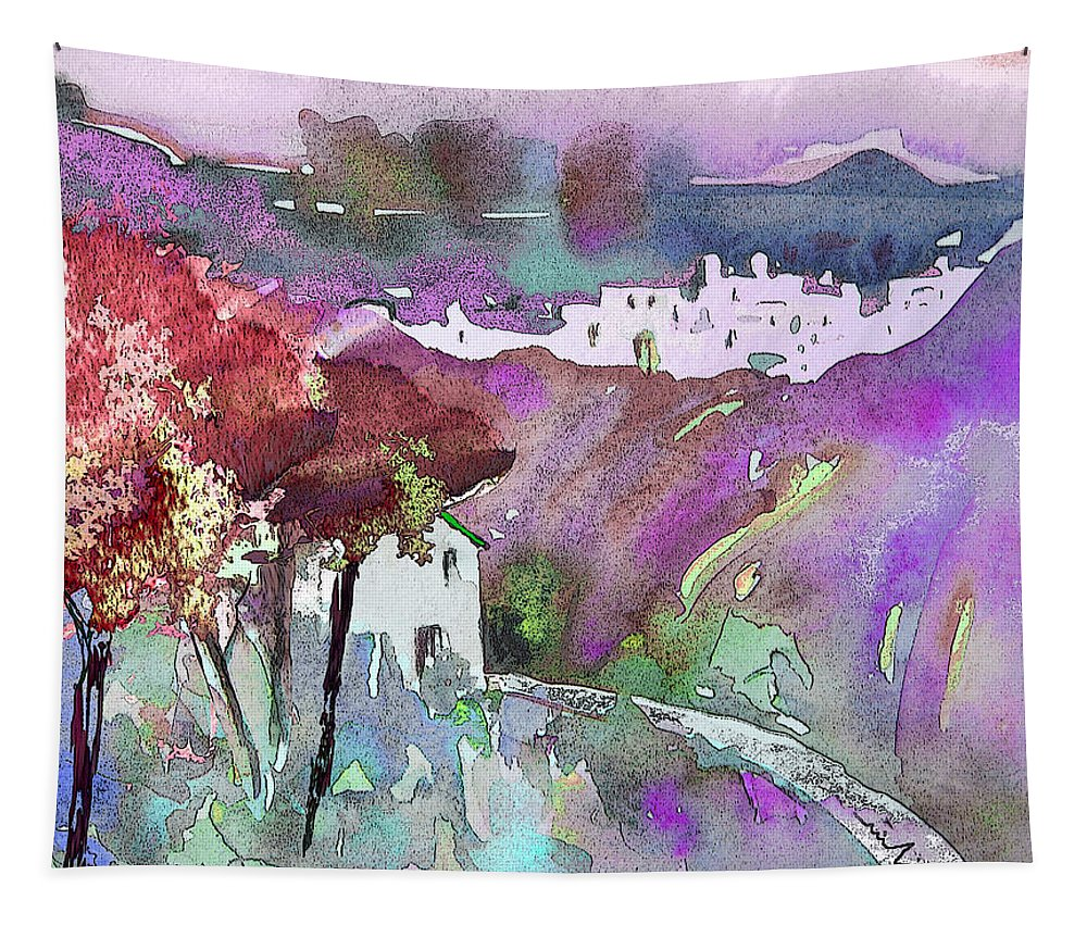 Watercolour Tapestry featuring the painting Dawn 01 by Miki De Goodaboom
