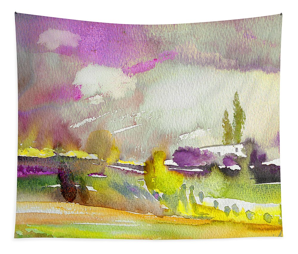 Watercolour Tapestry featuring the painting Dawn 03 by Miki De Goodaboom