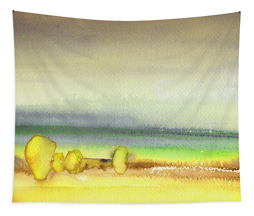Landscapes Tapestry featuring the painting Dawn 13 by Miki De Goodaboom