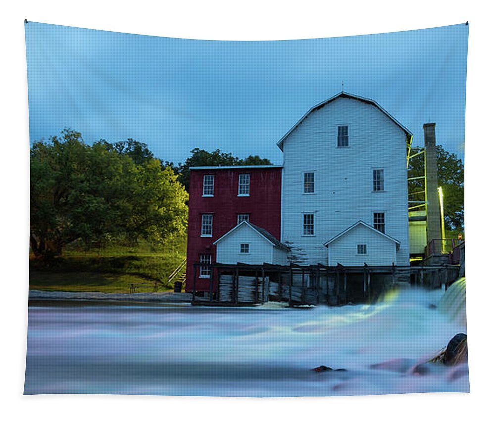 Phelps Mill Tapestry featuring the photograph Dawn At Phelps Mill by Penny Meyers
