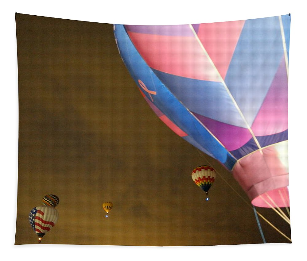 Dawn Tapestry featuring the photograph Dawn Launch Balloon Fiestas Albuquerque New Mexico by Jeff Swan