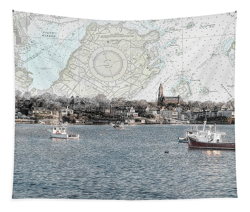 Marblehead Ma Tapestry featuring the photograph Dawn On Marblehead Harbor by Jeff Folger