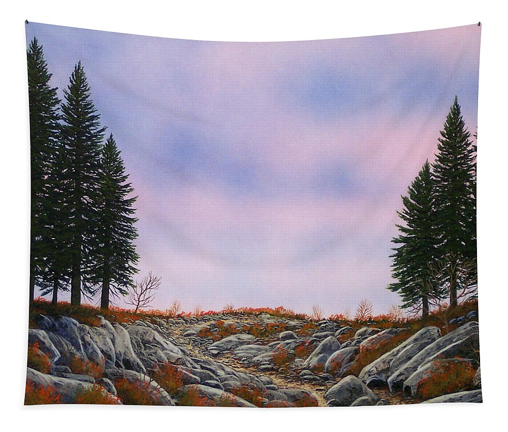 Landscape Tapestry featuring the painting Dawn Pacific Crest Trail by Frank Wilson