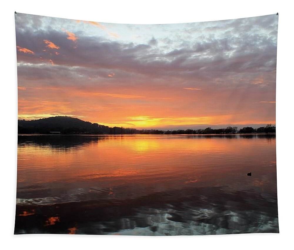 Sunrise Tapestry featuring the photograph Dawn Panorama by Anthony Croke