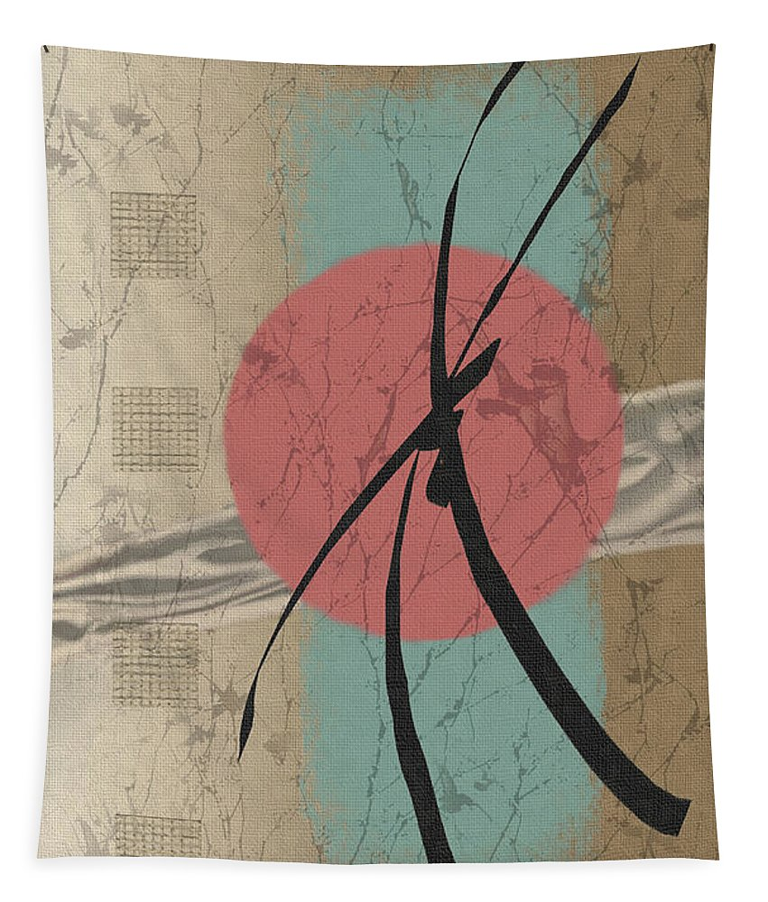Contemporary Asian Japanese Oriental Abstract Sun Sunrise Sunset G Tapestry featuring the painting Daybreak by Gordon Beck
