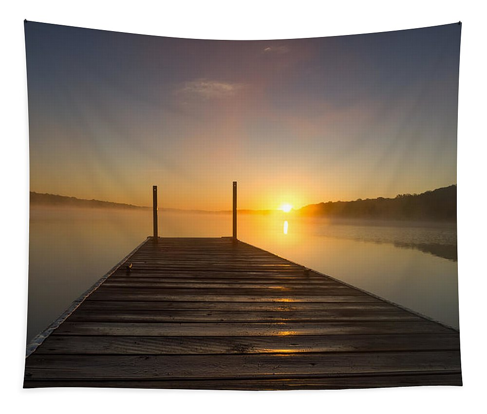 Sunrise Tapestry featuring the photograph Daybreak by Penny Meyers