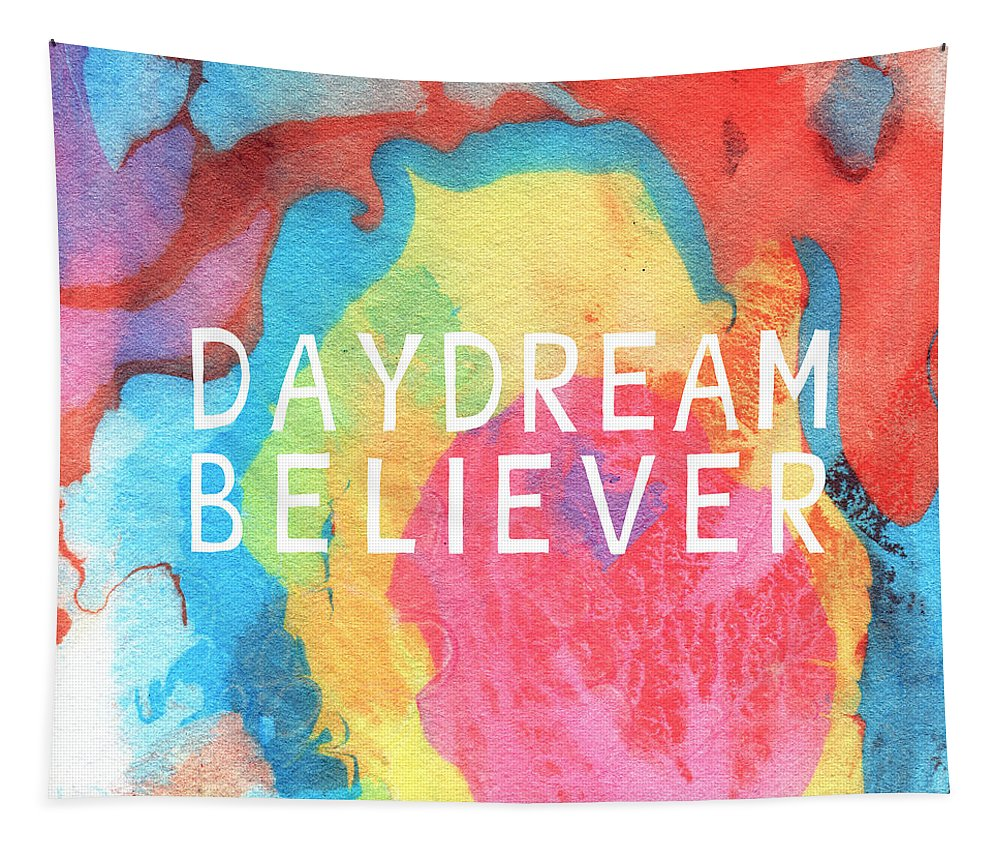 Abstract Tapestry featuring the painting Daydream Believer- Abstract Art By Linda Woods by Linda Woods