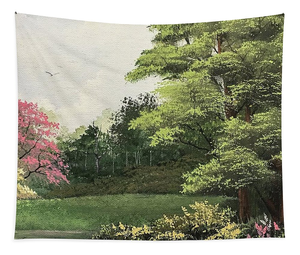 Landscape Tapestry featuring the painting Daytime Color by Glen Mcclements