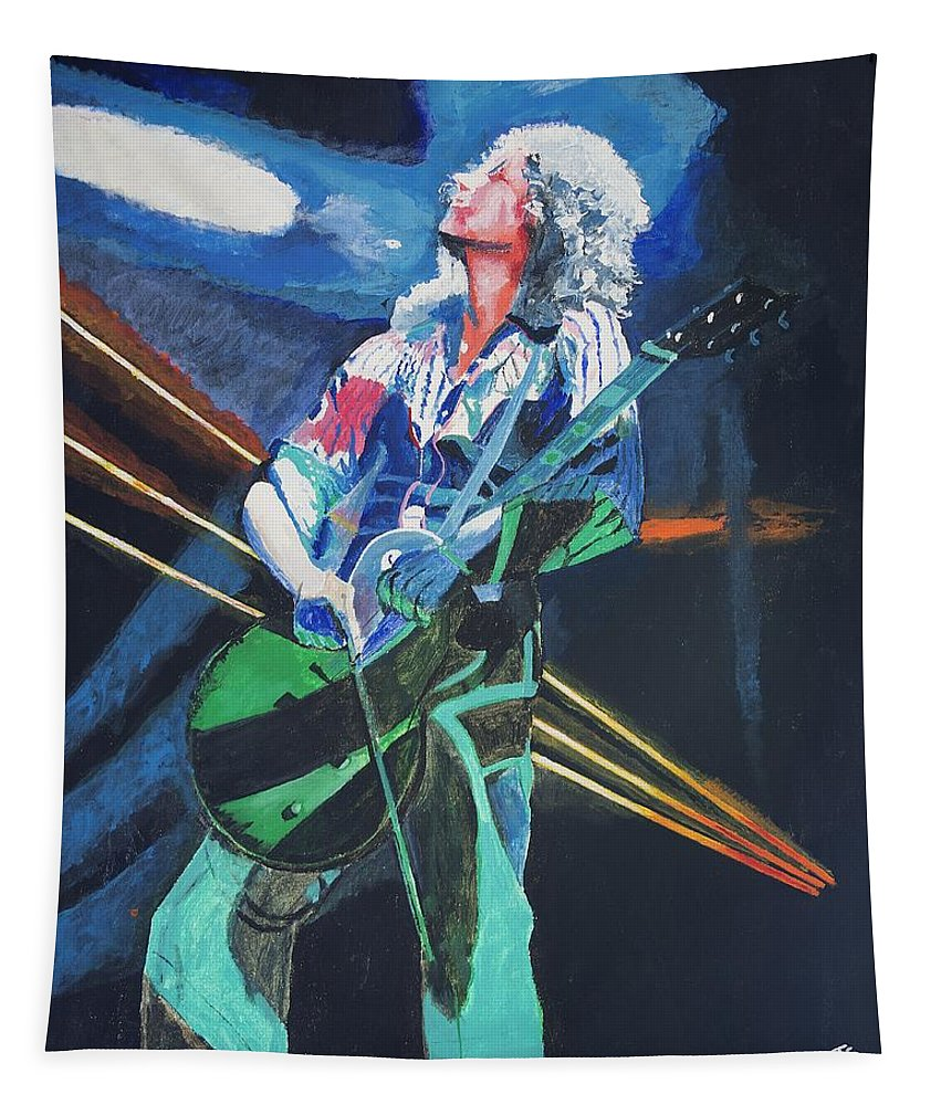Jimmy Page Tapestry featuring the painting Dazed And Confused by Bruce Schmalfuss