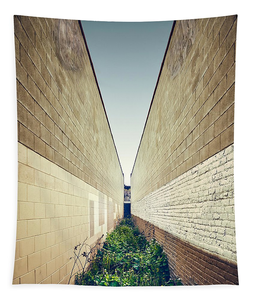 Minimal Tapestry featuring the photograph Dead End Alley by Scott Norris