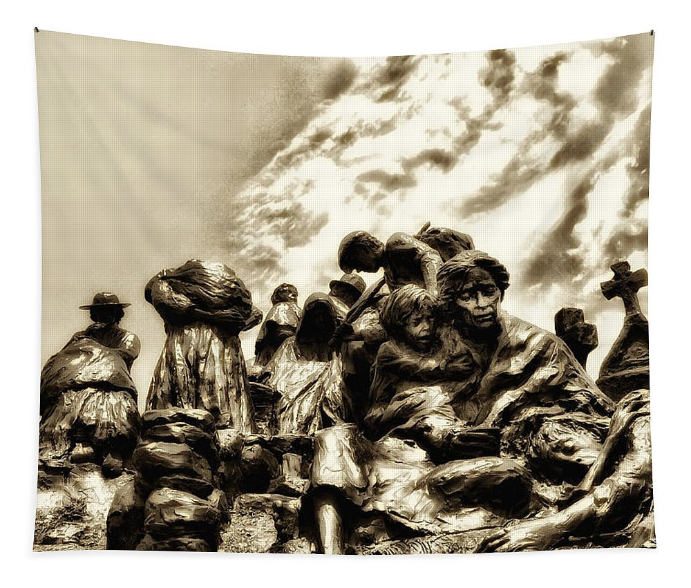 Philadelphia Tapestry featuring the photograph Death In The Time Of The Irish Famine by Bill Cannon