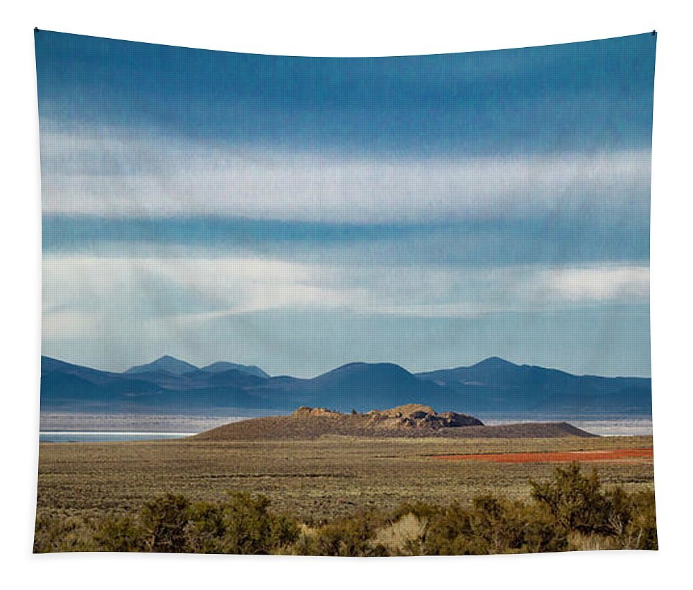 Jean Noren Tapestry featuring the photograph Death Valley Pano by Jean Noren