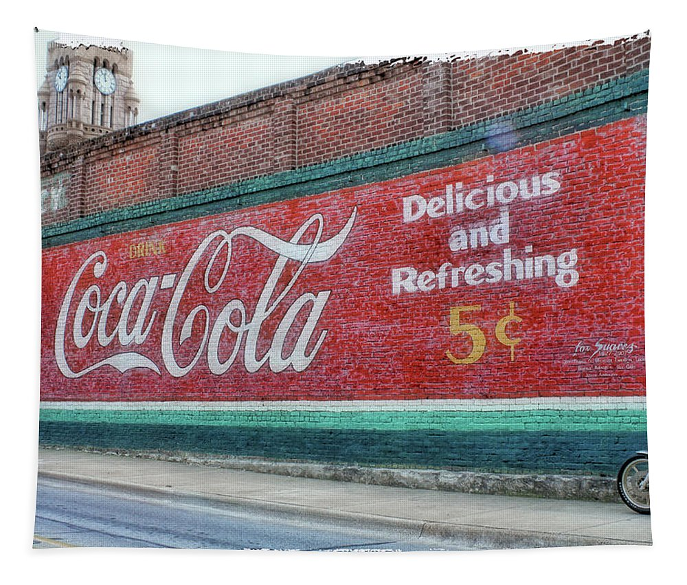 Coke Tapestry featuring the photograph Delicious And Refreshing by Debby Richards