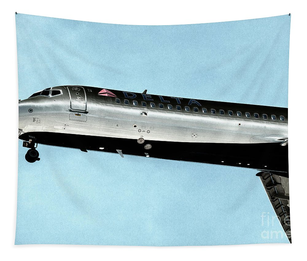 Delta Tapestry featuring the photograph Delt Skyteam by Dale Powell