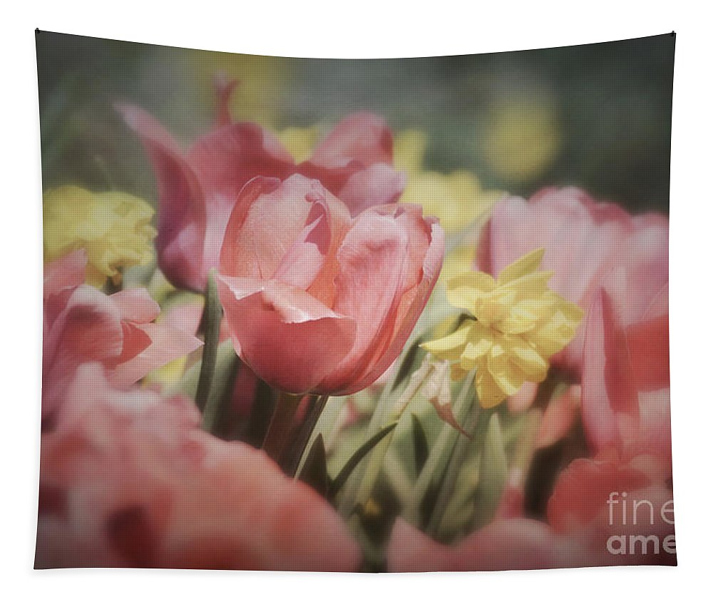 Tulips Tapestry featuring the photograph Demure Delight by Kerri Farley