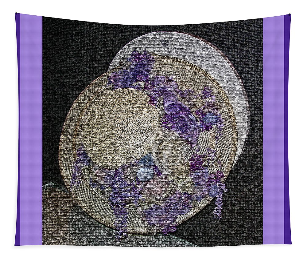 Churchill Downs Tapestry featuring the digital art Derby Day Hat - 5 by Marian Bell