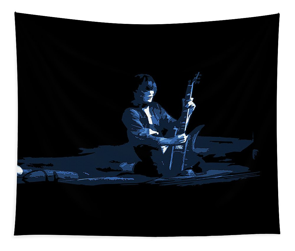 Derringer Tapestry featuring the photograph Derringer 77 #61 Enhanced In Blue by Ben Upham