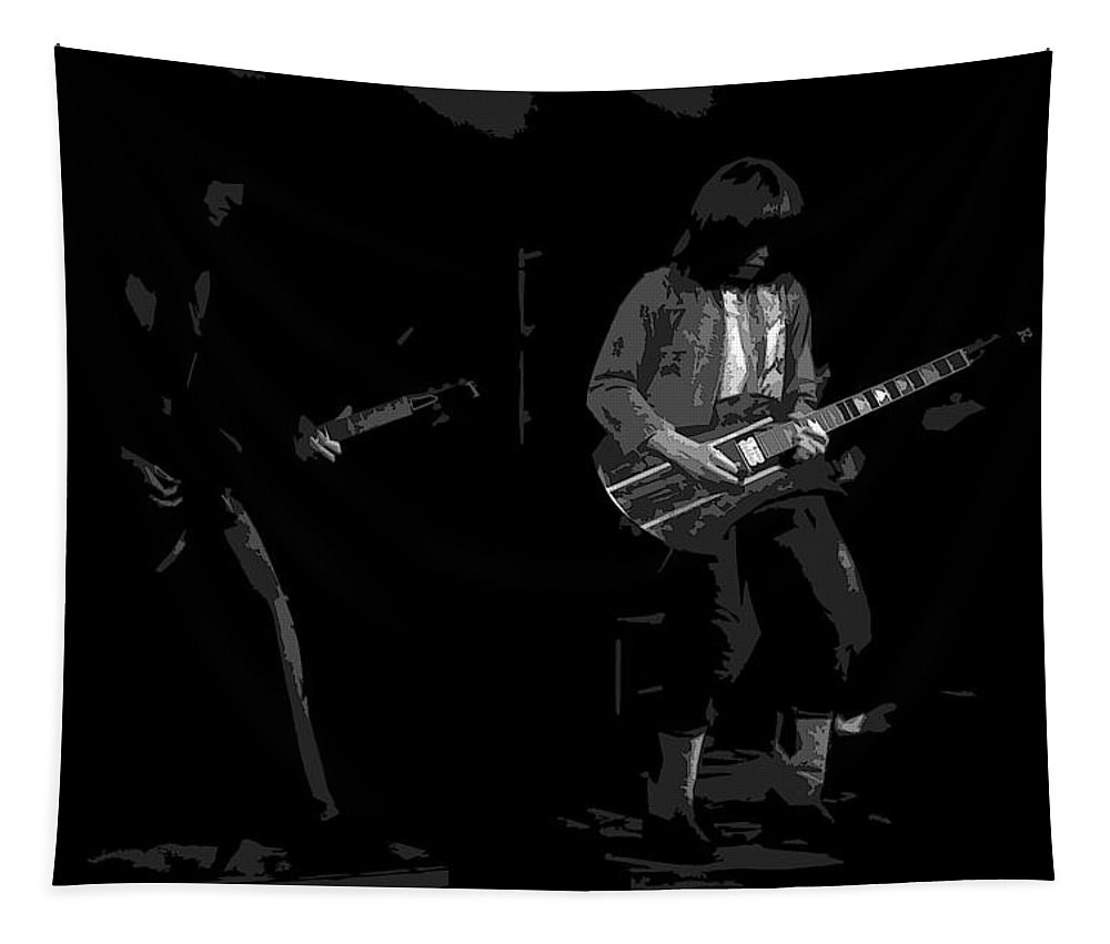 Derringer Tapestry featuring the photograph Derringer 77 #67 Enhanced Bw by Ben Upham
