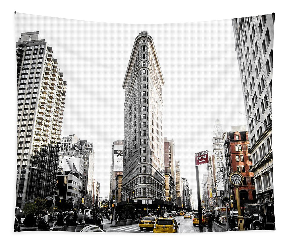 Street Tapestry featuring the photograph Desaturated New York by Nicklas Gustafsson
