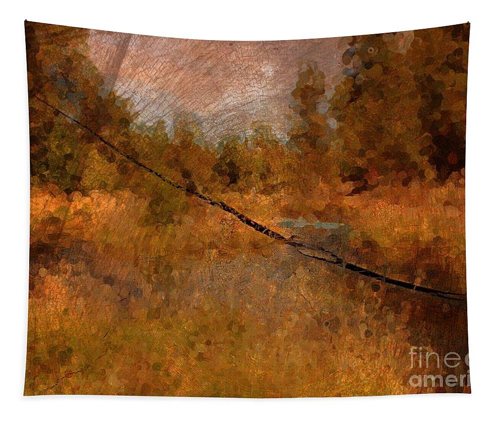 Oregon Landscape Tapestry featuring the photograph Deschutes River Abstract by Carol Groenen