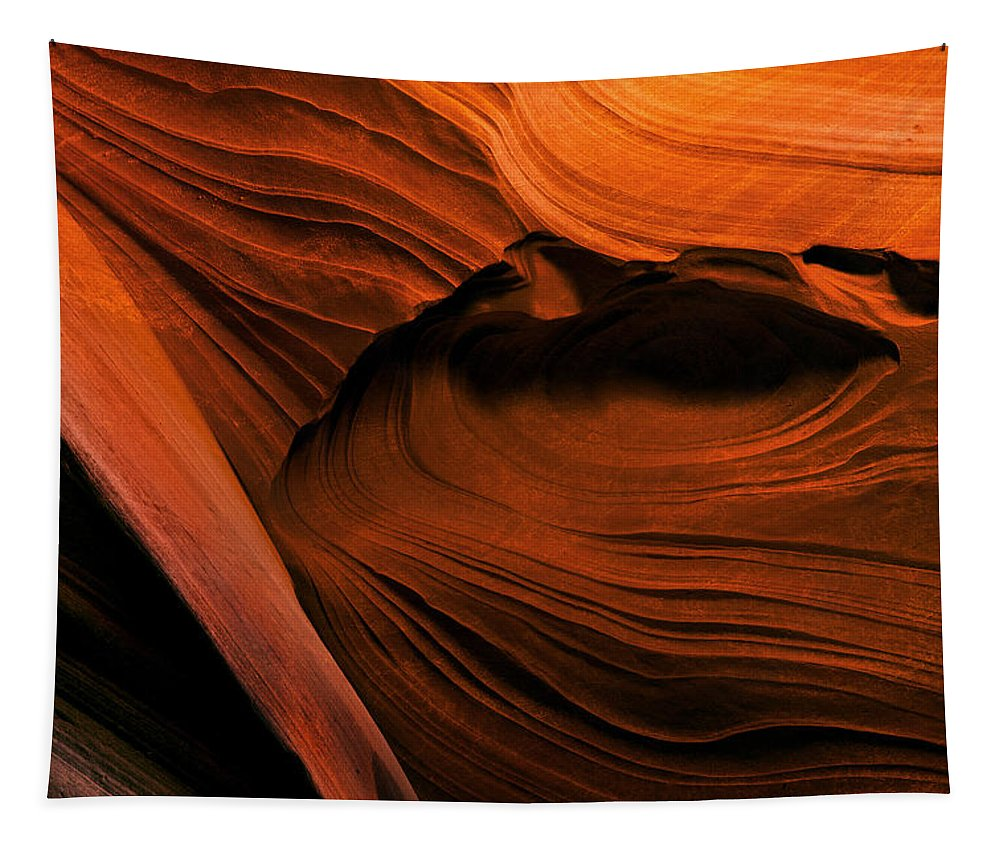 Antelope Canyon Tapestry featuring the photograph Desert Carvings by Mike Dawson