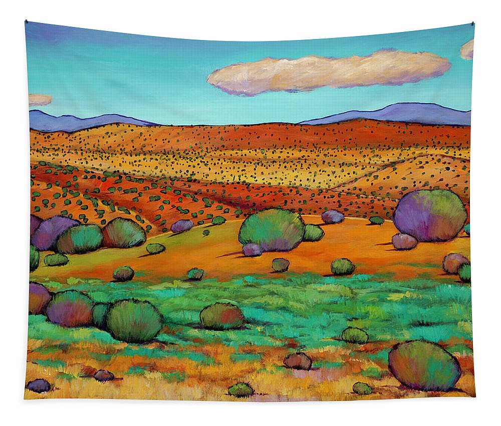 New Mexico Desert Tapestry featuring the painting Desert Day by Johnathan Harris