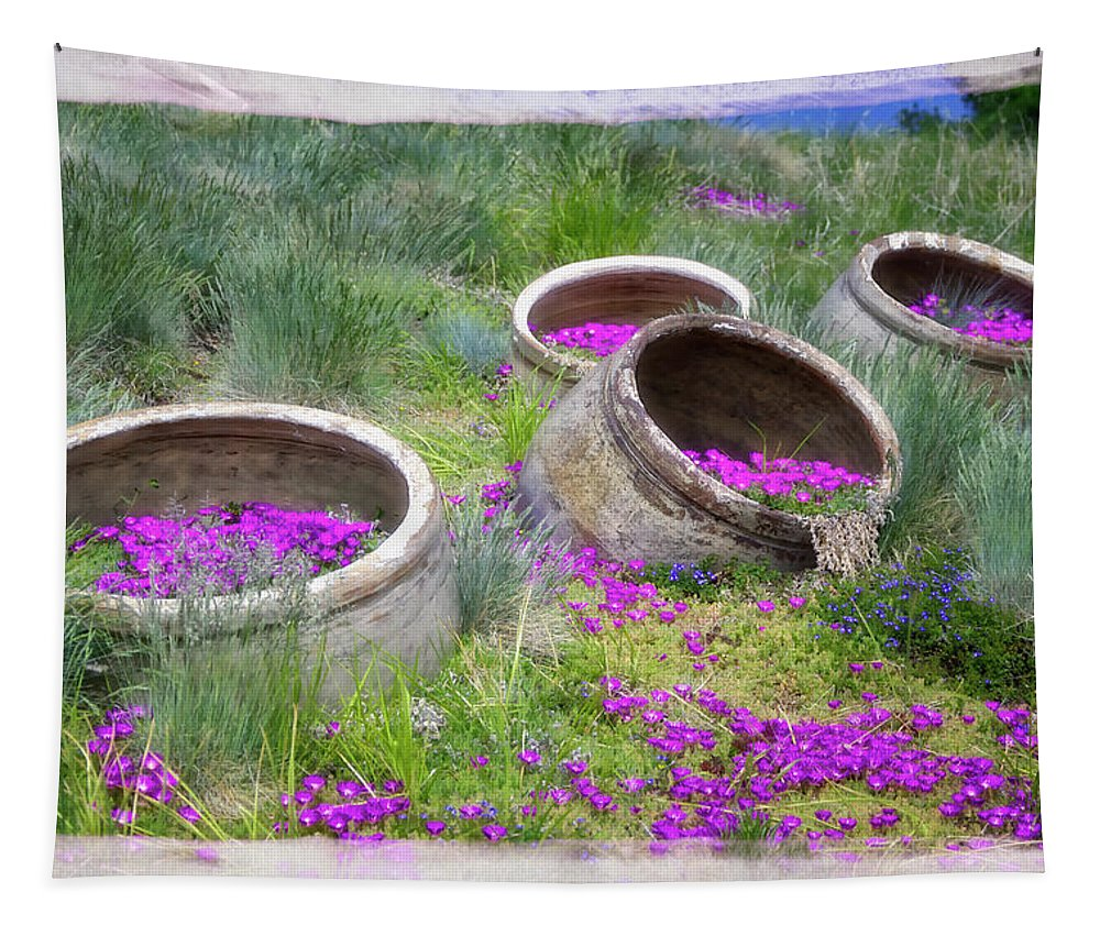 Botanic Gardens Tapestry featuring the photograph Desert Flowers by Joan Carroll