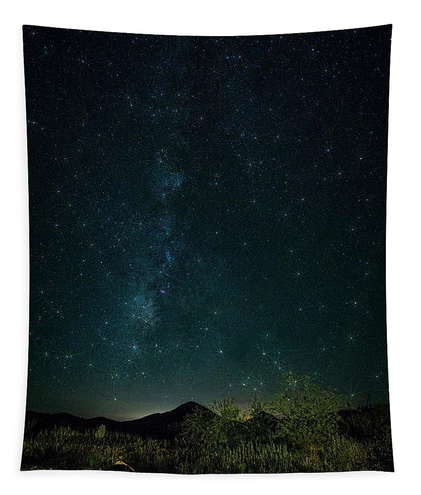 Night Skies Tapestry featuring the photograph Desert Night Skies by Saija Lehtonen