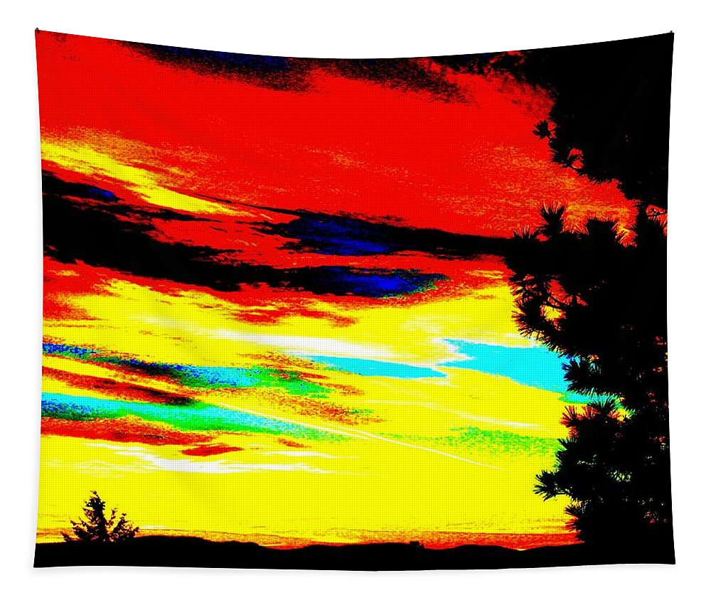 Abstract Tapestry featuring the digital art Desert Sky by Will Borden