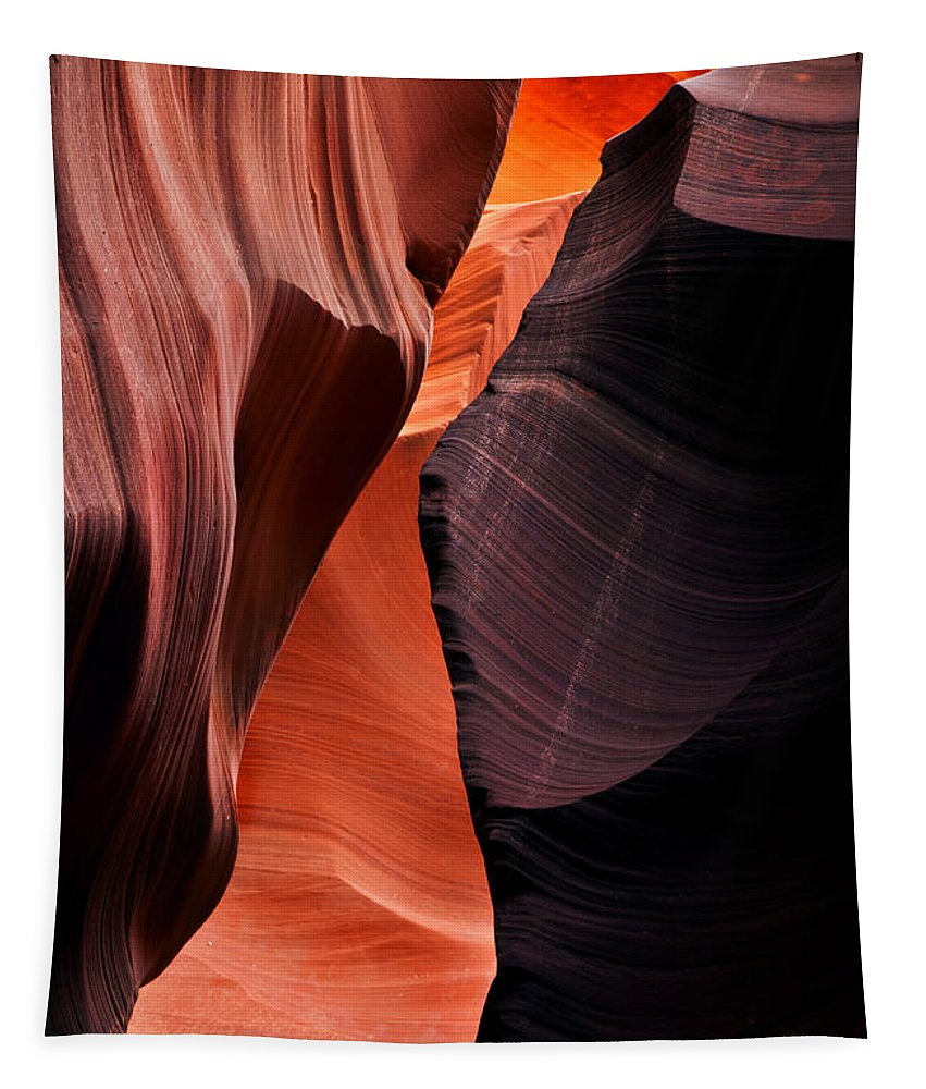 Antelope Canyon Tapestry featuring the photograph Desert Split by Mike Dawson
