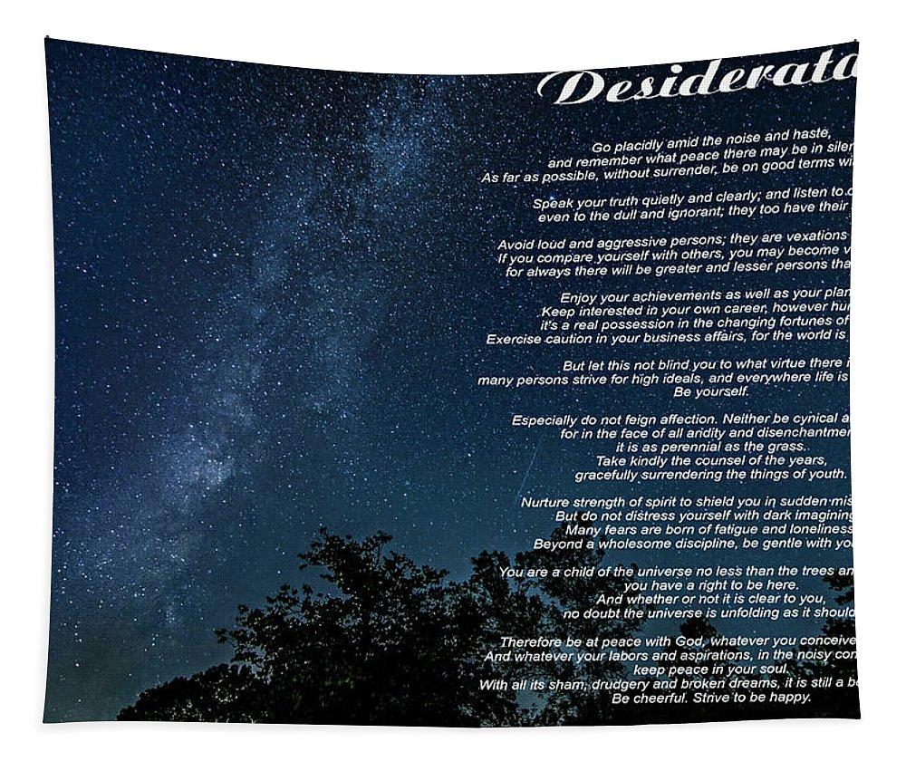 Desiderata Tapestry featuring the photograph Desiderata - The Milky Way by Steve Harrington
