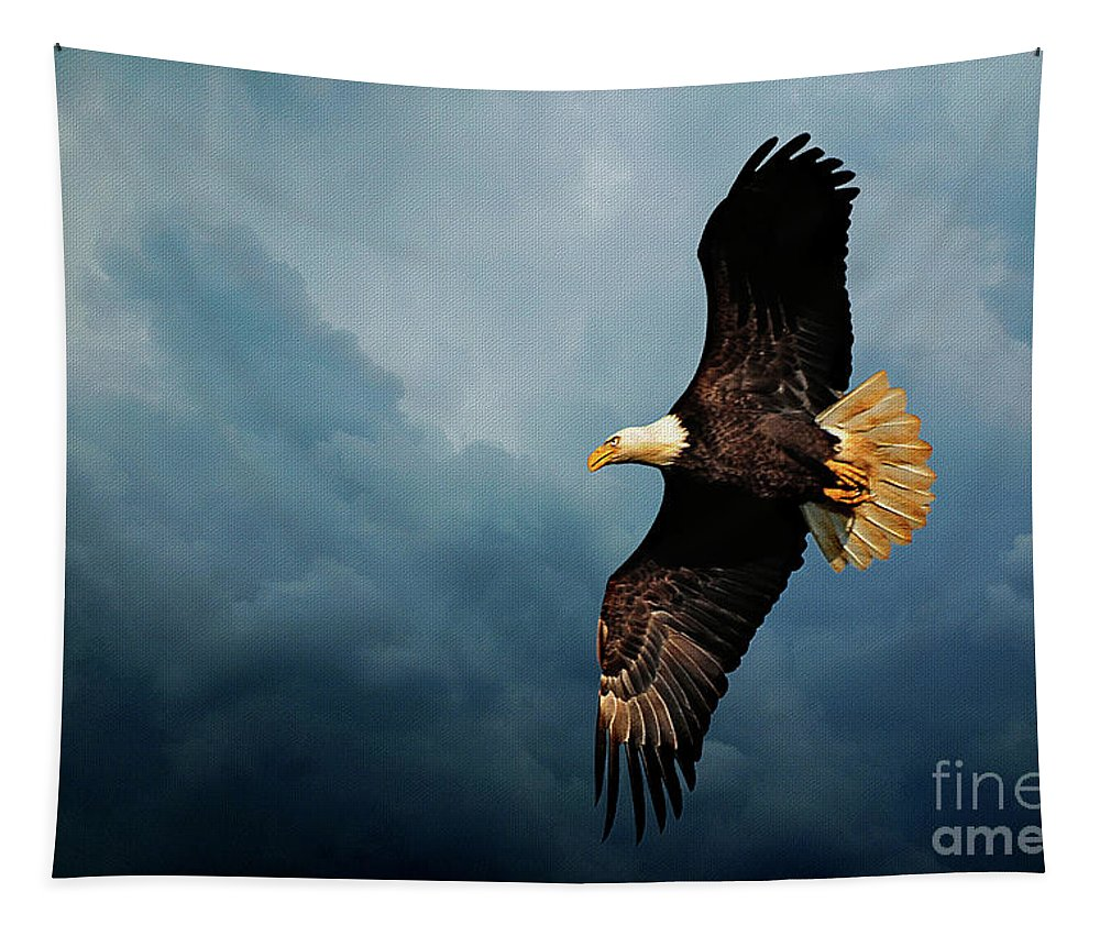 Bird Tapestry featuring the photograph Determination by Lois Bryan