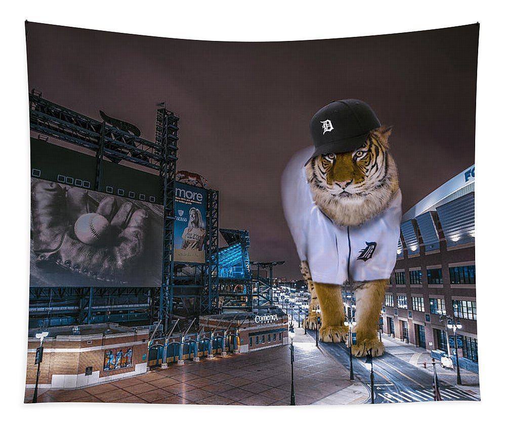Star Wars Tapestry featuring the photograph Detroit Tigers at Comerica Park by Nicholas Grunas