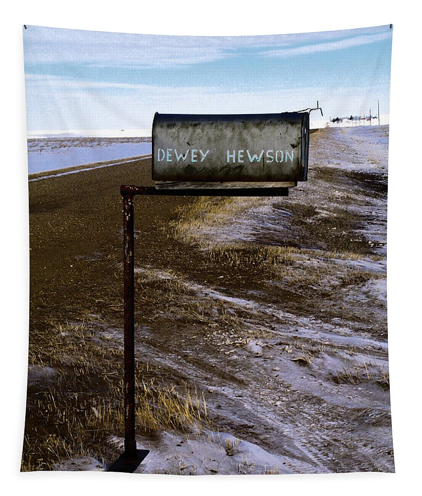 Mail Tapestry featuring the photograph Dewey Hewson by Jeff Swan