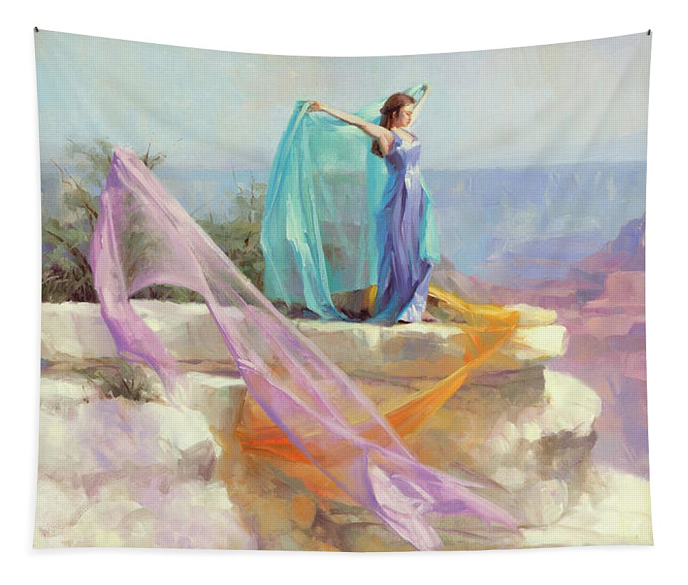Southwest Tapestry featuring the painting Diaphanous by Steve Henderson