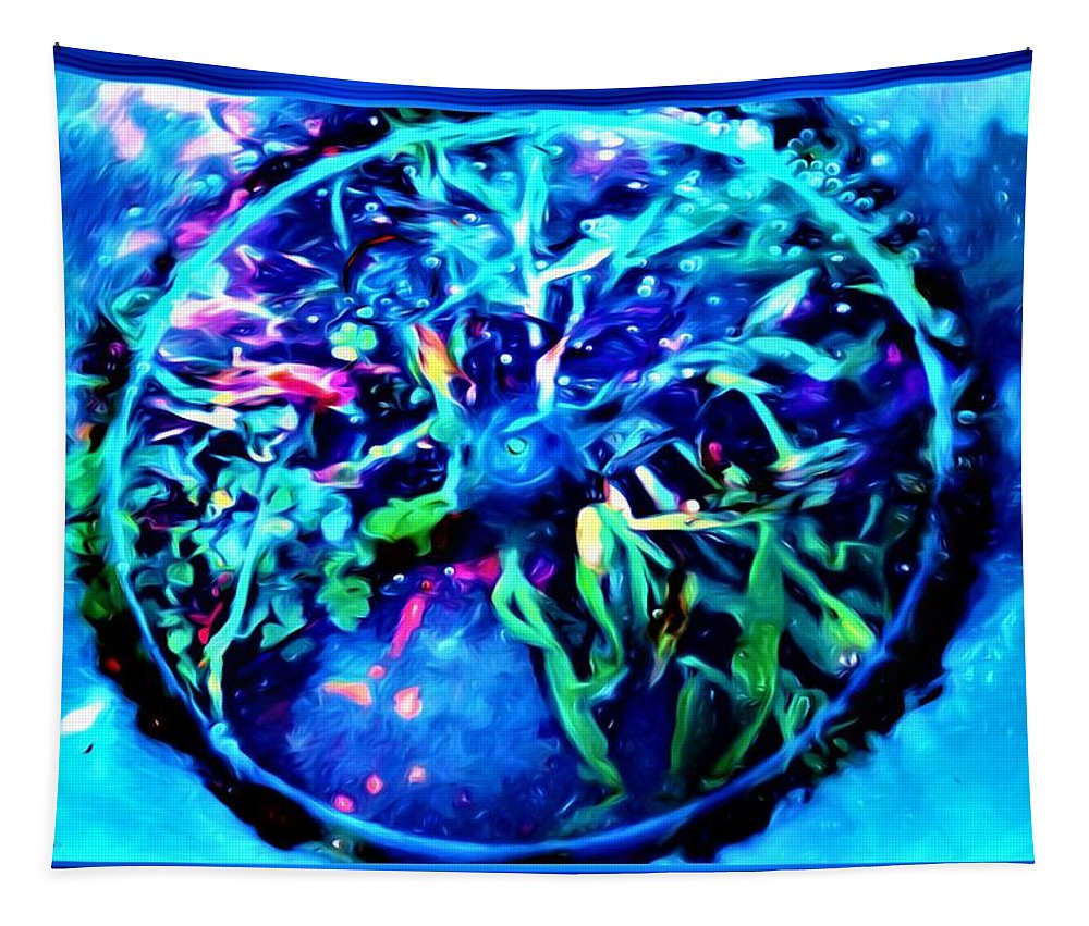Photography Tapestry featuring the mixed media Different View Of Topgraphy by Debra Lynch