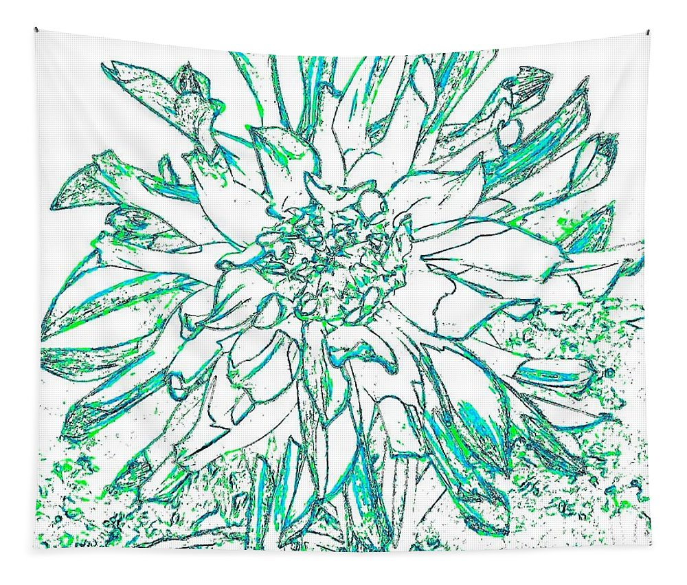 Digital Drawing Tapestry featuring the digital art Digital Drawing 3 by Will Borden