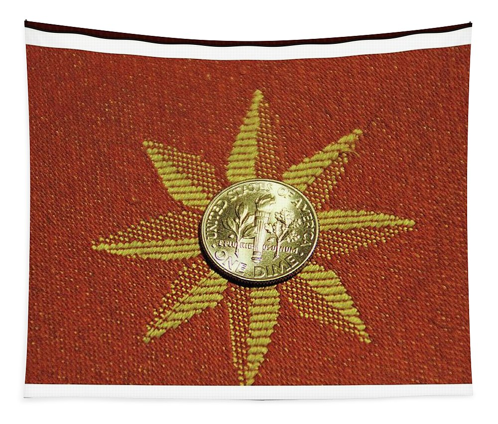 Coins Tapestry featuring the photograph Dime Macro by Karl Rose
