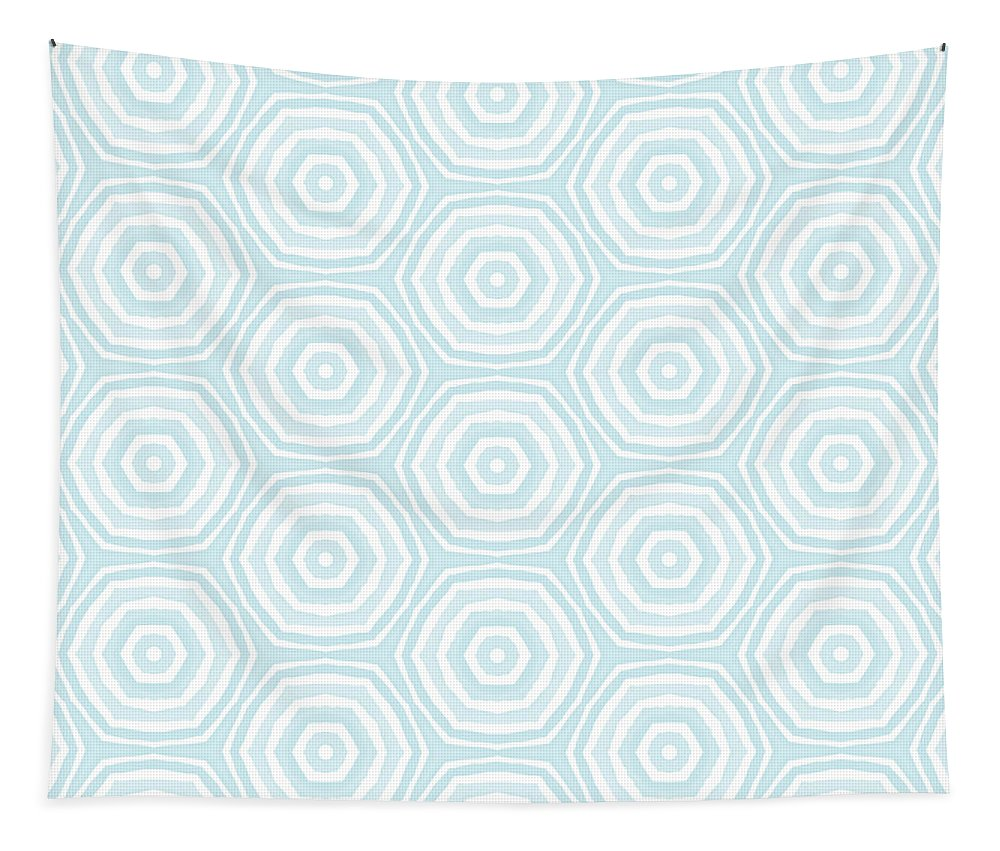 Circles Tapestry featuring the digital art Dip In The Pool - Pattern Art By Linda Woods by Linda Woods