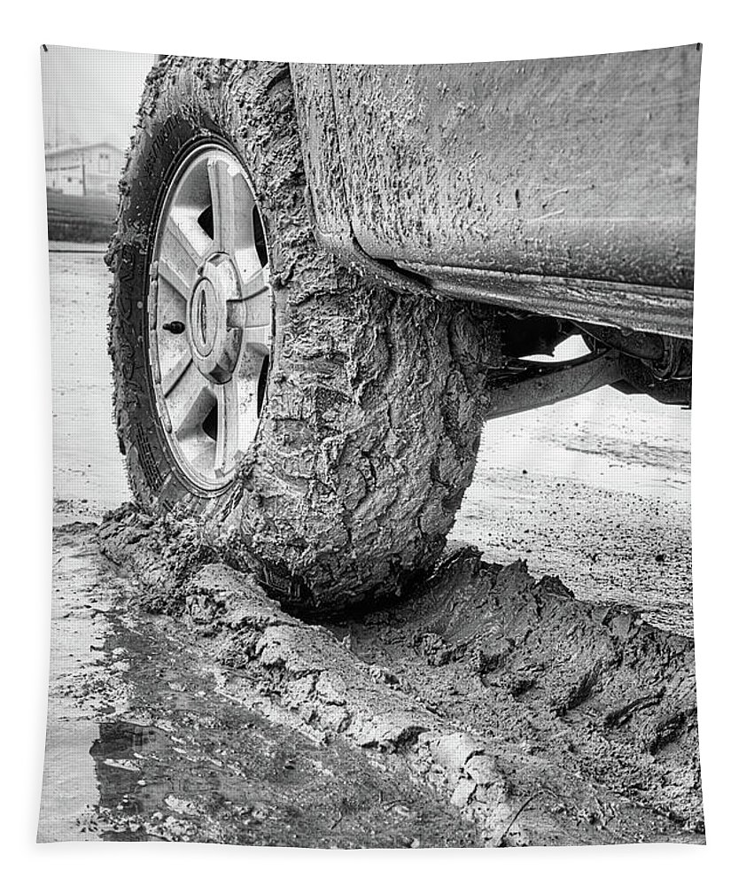 Mud Tire Tapestry featuring the photograph Dirty Pictures by JC Findley