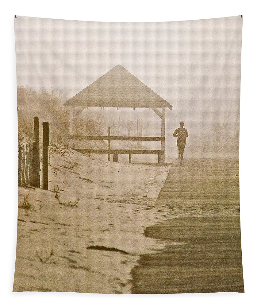 Landscape Tapestry featuring the photograph Disappearance by Steve Karol