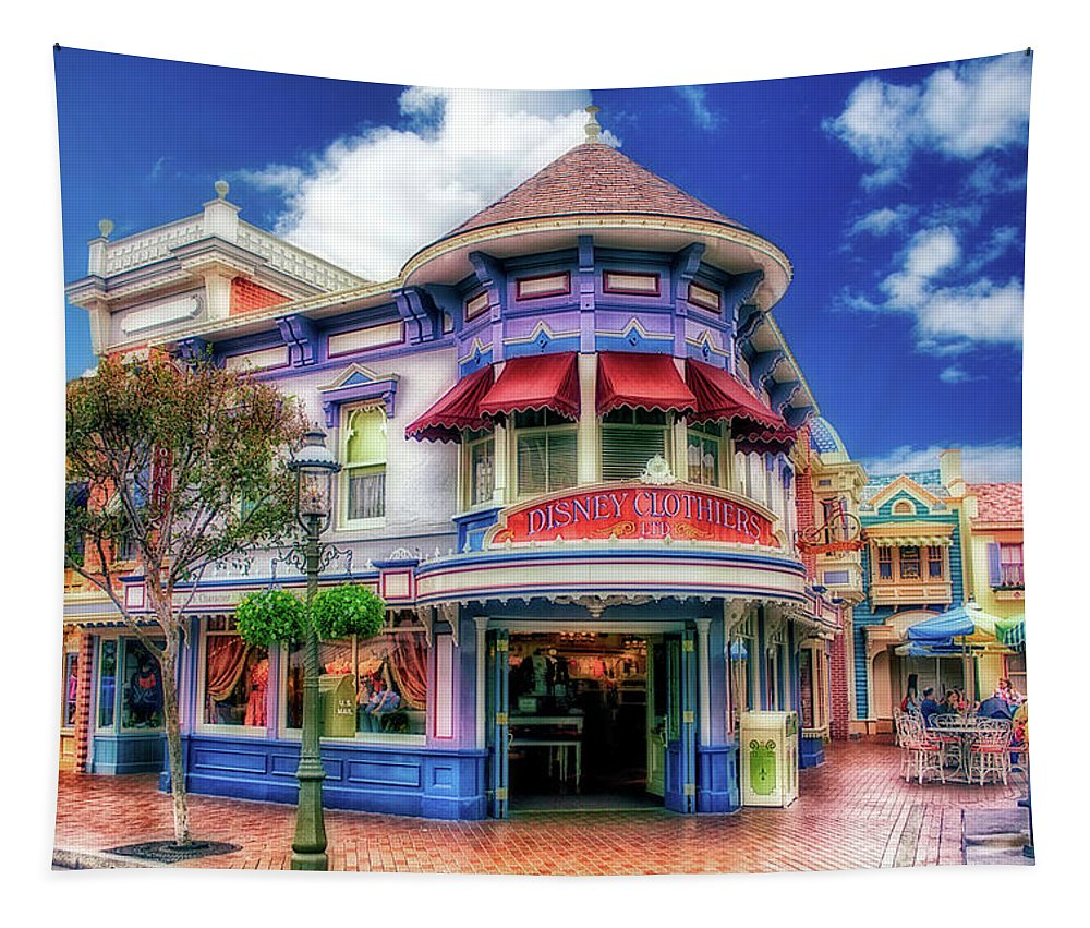 Disney Tapestry featuring the photograph Disney Clothiers Main Street Disneyland 01 by Thomas Woolworth