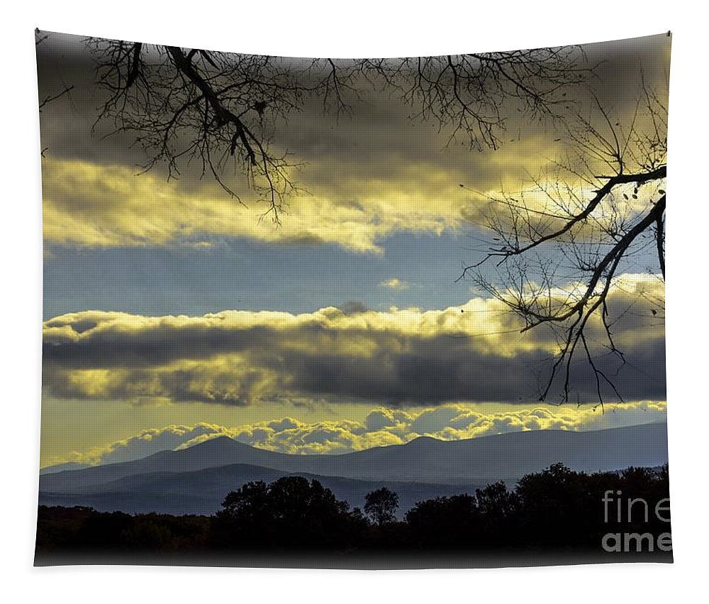Morning Tapestry featuring the photograph Distant Mountains by Sherman Perry