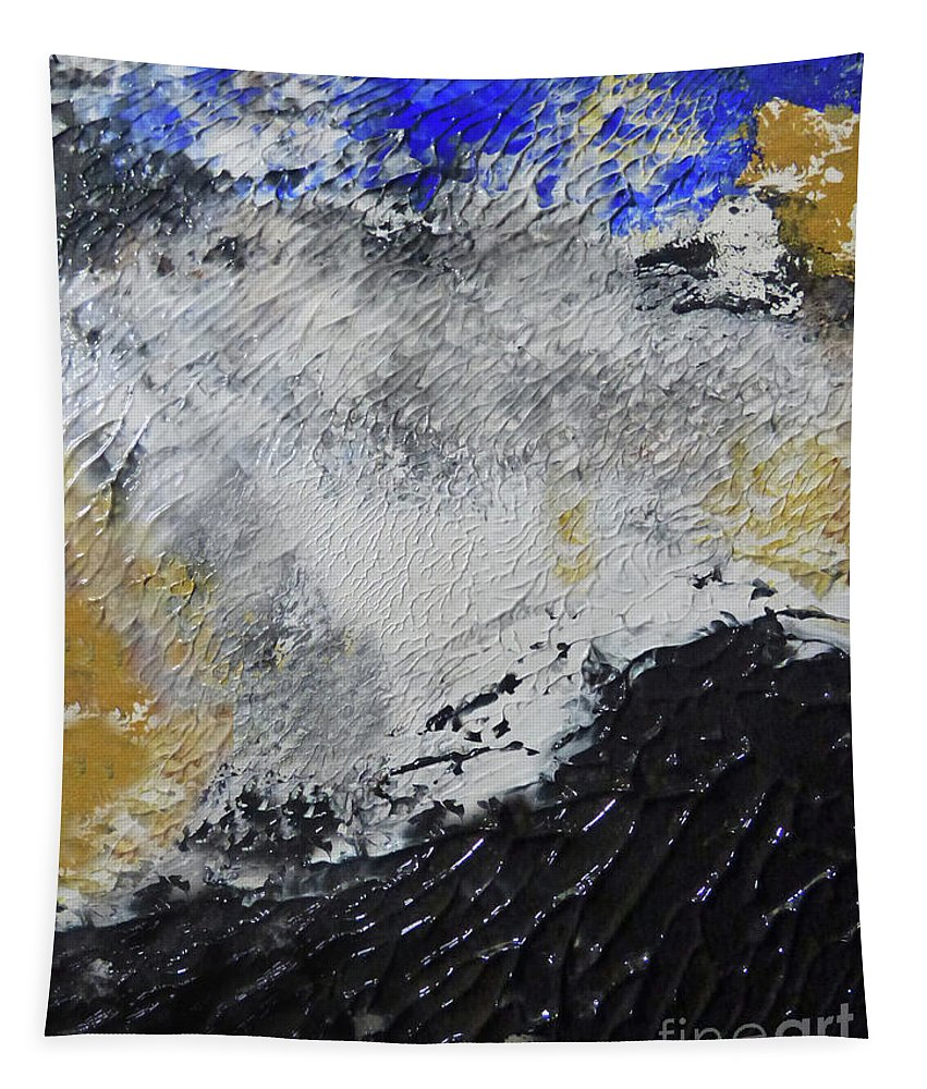 Abstract Tapestry featuring the painting Disturbance by Sharon Eng