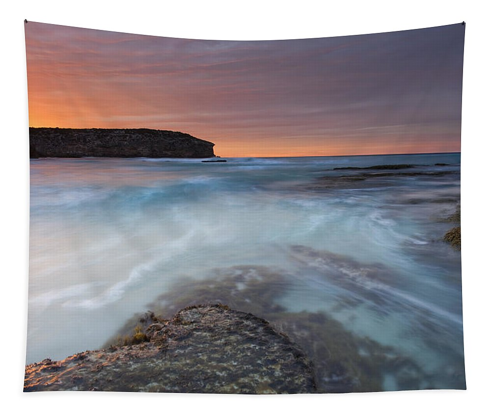 Dawn Tapestry featuring the photograph Divided Tides by Mike Dawson