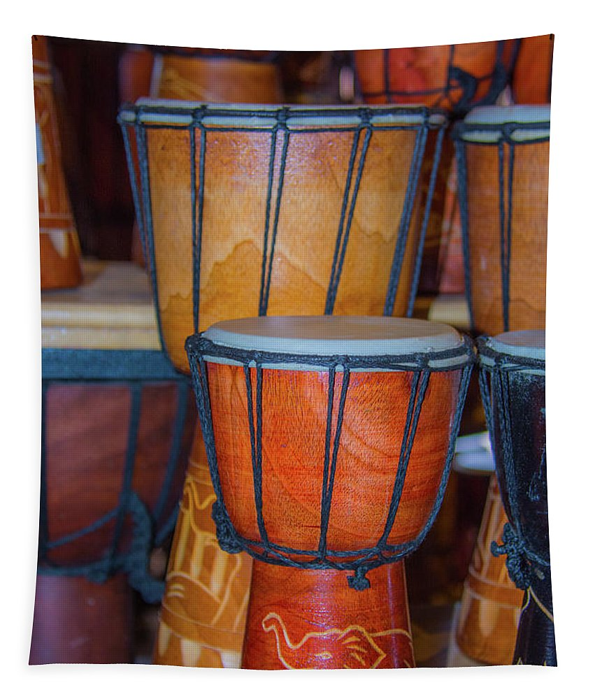 Africa Tapestry featuring the photograph Djembe Drum by Pamela Williams