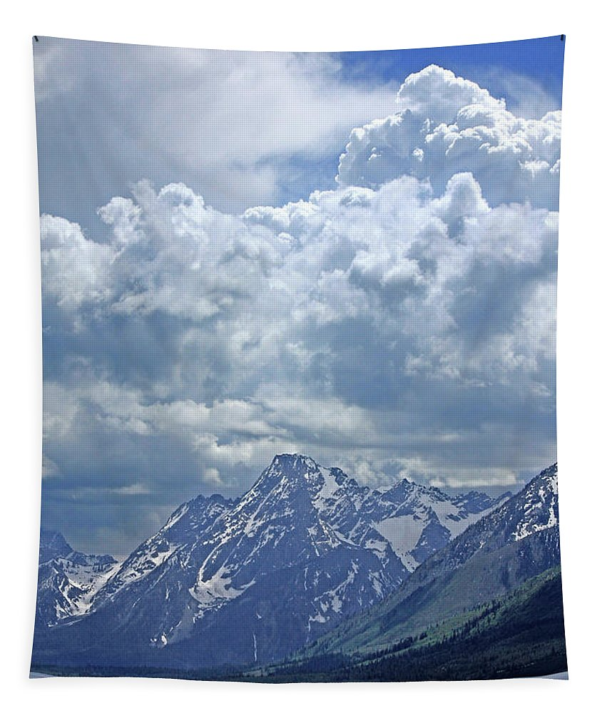 Clouds Tapestry featuring the photograph Dm9233 Clouds Over Mt. Moran V by Ed Cooper Photography